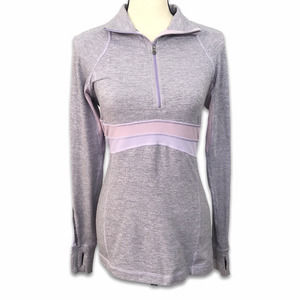 Lululemon Lilac Run Full Tilt Half Zip Pullover